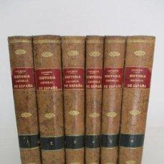 Alte Bücher - Historia General de España - Modesto Lafuente - 6 Tomos -Editor Montaner y Simon -Completa -Año 1886 - 90121144