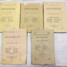 Libros antiguos: GALICIA - GALERIA DE GALLEGOS ILUSTRES - TOMOS I-III-IV-V-VI, 1874/75 Y 1879 EN LUGO EL V + INFO. Lote 90351008