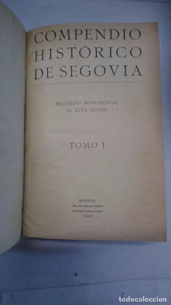 Libros antiguos: Compendio histórico de Segovia (1929-1930) (Tres partes en un volumen) - Foto 4 - 90534500