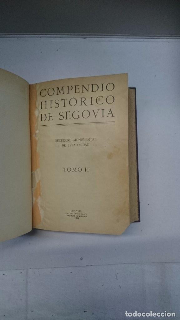 Libros antiguos: Compendio histórico de Segovia (1929-1930) (Tres partes en un volumen) - Foto 7 - 90534500
