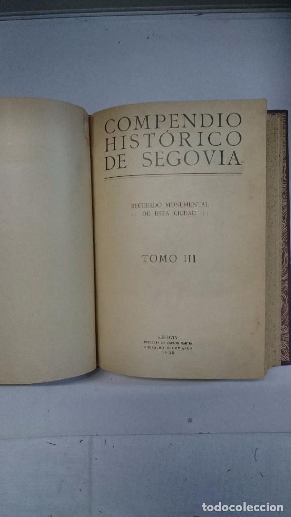 Libros antiguos: Compendio histórico de Segovia (1929-1930) (Tres partes en un volumen) - Foto 10 - 90534500