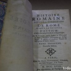 Libros antiguos: HISTORIE ROMAINE 1758. Lote 90687475