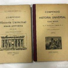 Libros antiguos: COMPENDIO DE HISTORIA UNIVERSAL, EDAD MEDIA Y ANTIGUA, RUIZ AMADO, R., 1925-1930, NUM. GRABADO. Lote 90715490