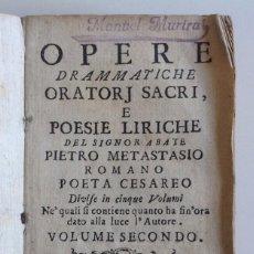 Libros antiguos: ROMA 1748 * ALEJANDRO MAGNO EN INDIA, CATON EN UTICA ETC * 6 DRAMAS LÍRICOS DEL XVIII. Lote 93963195