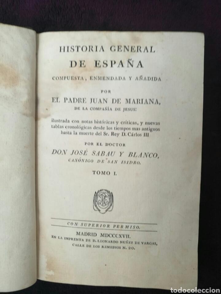 Libros antiguos: Historia España tomo I Juan de Mariana 1817 - Foto 2 - 94271764