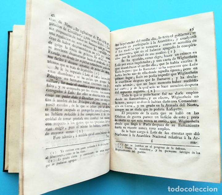 Libros antiguos: REVOLUCION FRANCESA,LIBRO DEFENSA DE LUIS XVI,AÑO 1793, SI.XVIII,REY DE FRANCIA MUERTO EN GUILLOTINA - Foto 4 - 94538295