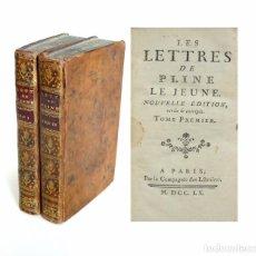 Libros antiguos: 1760 - ROMA - EPISTOLARIO DE PLINIO EL JOVEN - LES LETTRES DE PLINE LE JEUNE - ANTIGÜEDAD CLÁSICA . Lote 94784307