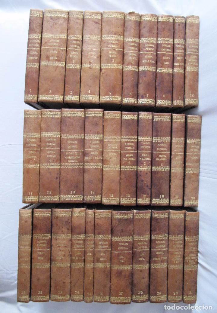 ESPECTACULAR LOTE 31 TOMOS PANORAMA UNIVERSAL 1838 - 1845 IMPOSIBLE ENCONTRAR OTRO IGUAL (Libros antiguos (hasta 1936), raros y curiosos - Historia Antigua)