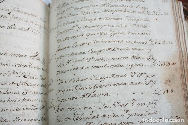 Libros antiguos: LIBRO GRANDE MANUSCRITO INEDITO DE CUENTA Y RAZON SANTA MARIA DE LLOVERA OTAÑES CASTRO-URDIALES - Foto 21 - 95672383