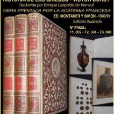 Libros antiguos: PCBROS - HISTORIA DE LOS GRIEGOS - VICTOR DURUY - ED. MONTANER Y SIMÓN EDITORES - ILUSTRADA 1890/91. Lote 95692655