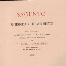 Libros antiguos: SAGUNTO. SU HISTORIA Y SUS MONUMENTOS. Lote 95909795