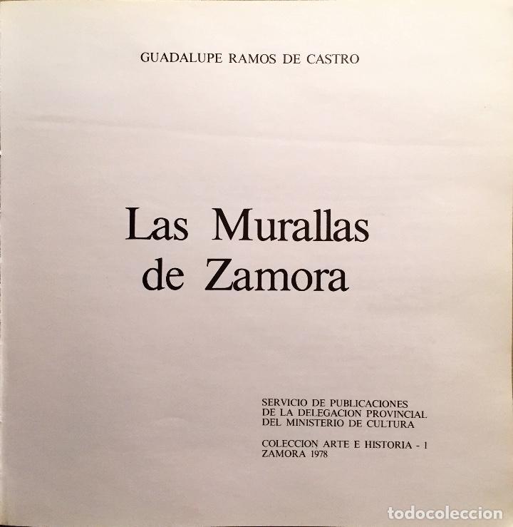 Libros antiguos: LAS MURALLAS DE ZAMORA 1978 - Foto 3 - 269011724