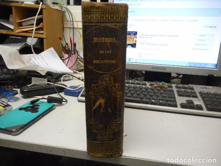 LIBRERIA GHOTICA 1871 HISTORIA DE LAS RELIGIONES EN UN SOLO TOMO MUCHOS GRABADOS (Libros antiguos (hasta 1936), raros y curiosos - Historia Antigua)
