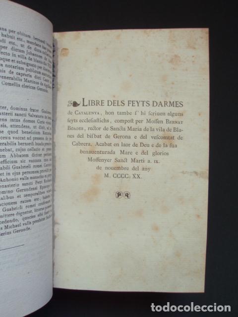 Libros antiguos: Llibre dels Feyts d?Armes de Catalunya compost per Mossen Bernat Boades, 1873-1904 - Foto 3 - 88941275