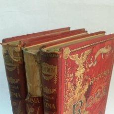 Libros antiguos: 1888 - FRANCISCO BERTOLINI - HISTORIA DE ROMA DESDE LOS ORÍGENES ITÁLICOS - 3 TOMOS, COMPLETA. Lote 96860319