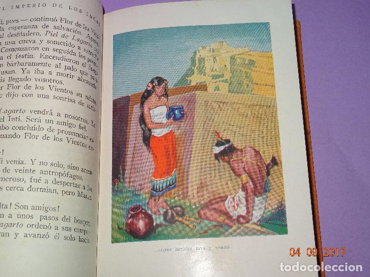 Libros antiguos: EL IMPERIO DE LOS INCAS de Páginas Brillantes de la Historia de la Editorial ARALUCE del Año 1929 - Foto 4 - 97154327