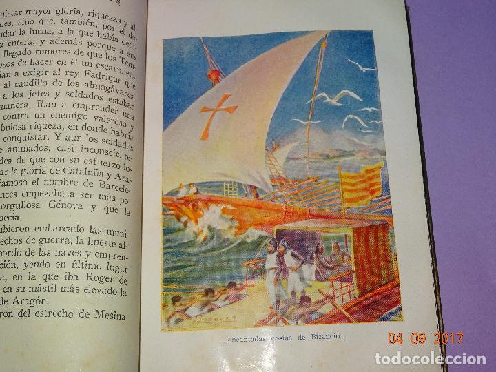 Libros antiguos: LOS ALMOGÁVARES de Páginas Brillantes de la Historia de la Editorial ARALUCE del Año 1930 - Foto 3 - 97155187