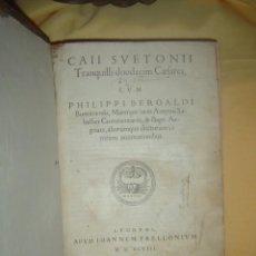 Libros antiguos: 1548-LOS DOCE CÉSARES.HISTORIA EMPERADORES ROMANOS.SUETONIO.POST-INCUNABLE.ORIGINAL. Lote 97942875