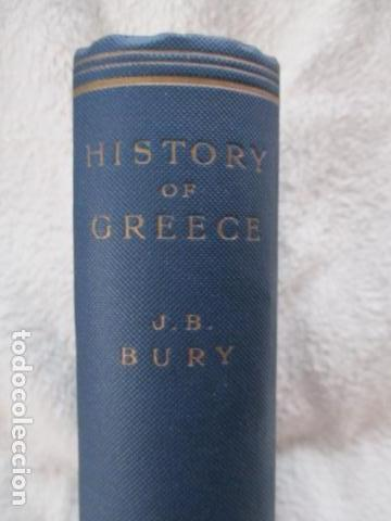 Libros antiguos: History of Greece - To The Death of Alexander the Great - J. B. Bury - (ingles) Alejandro Magno 1913 - Foto 3 - 98141675