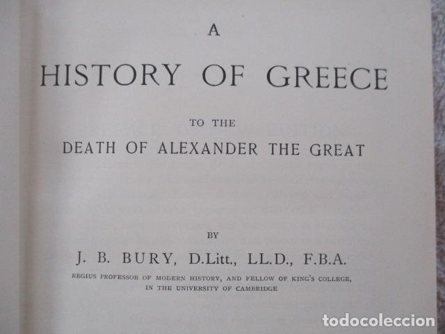 Libros antiguos: History of Greece - To The Death of Alexander the Great - J. B. Bury - (ingles) Alejandro Magno 1913 - Foto 11 - 98141675