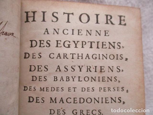 Libros antiguos: HISTOIRE ANCIENNE DES EGYPTIENS, DES CARTHAGINOIS - M. DCC XXXIV TOME SIXIEME (en Frances) - Foto 10 - 98144435