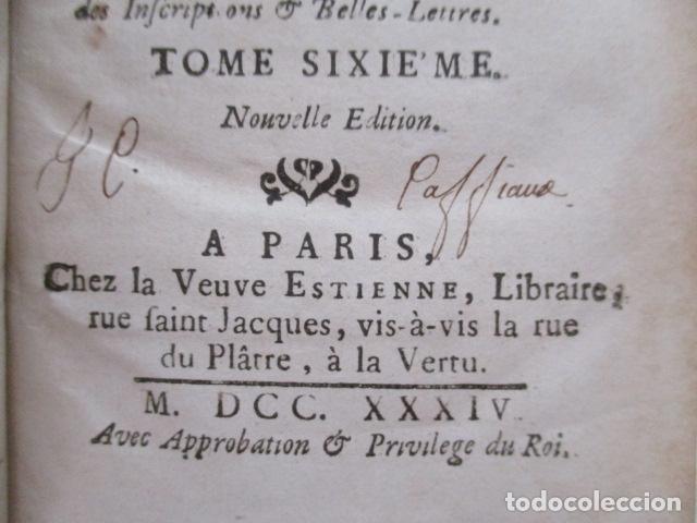 Libros antiguos: HISTOIRE ANCIENNE DES EGYPTIENS, DES CARTHAGINOIS - M. DCC XXXIV TOME SIXIEME (en Frances) - Foto 12 - 98144435