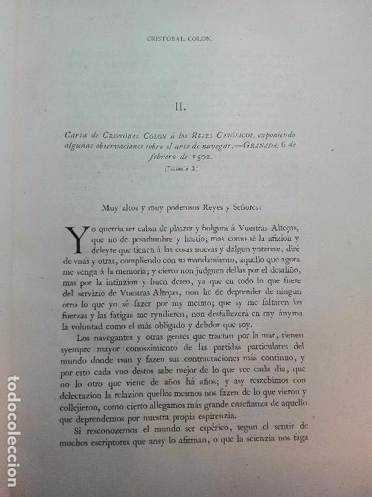 Libros antiguos: CARTAS DE INDIAS - PUBLÍCALAS POR PRIMERA VEZ EL MINISTERIO DE FOMENTO - TOMOS I Y II- MADRID -1877 - Foto 8 - 100177675
