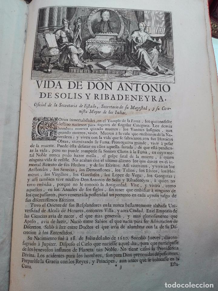 Libros antiguos: HISTORIA DE LA CONQUISTA DE MÉXICO - D. ANTONIO DE SOLIS - BRUSSELAS - FRANCISCO FOPPENS - 1704 - - Foto 6 - 100180207