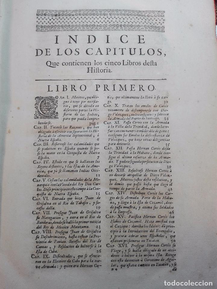 Libros antiguos: HISTORIA DE LA CONQUISTA DE MÉXICO - D. ANTONIO DE SOLIS - BRUSSELAS - FRANCISCO FOPPENS - 1704 - - Foto 7 - 100180207