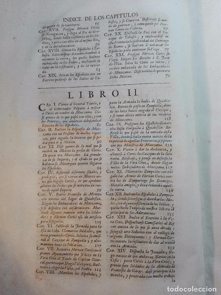 Libros antiguos: HISTORIA DE LA CONQUISTA DE MÉXICO - D. ANTONIO DE SOLIS - BRUSSELAS - FRANCISCO FOPPENS - 1704 - - Foto 8 - 100180207