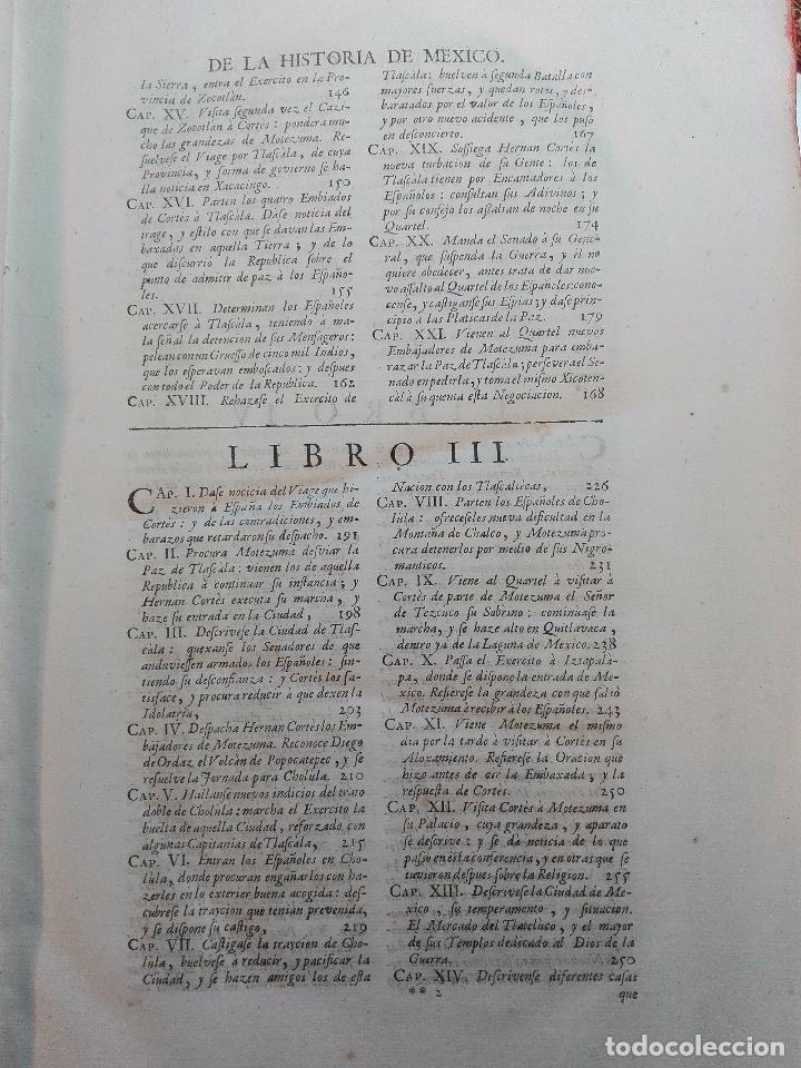 Libros antiguos: HISTORIA DE LA CONQUISTA DE MÉXICO - D. ANTONIO DE SOLIS - BRUSSELAS - FRANCISCO FOPPENS - 1704 - - Foto 9 - 100180207