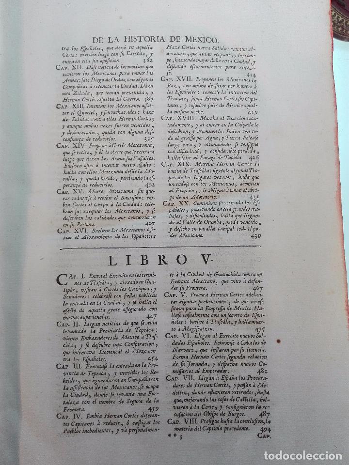 Libros antiguos: HISTORIA DE LA CONQUISTA DE MÉXICO - D. ANTONIO DE SOLIS - BRUSSELAS - FRANCISCO FOPPENS - 1704 - - Foto 11 - 100180207