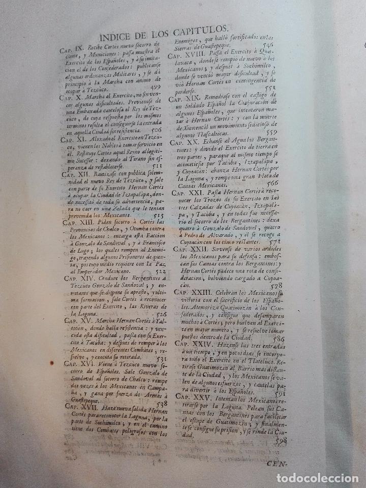 Libros antiguos: HISTORIA DE LA CONQUISTA DE MÉXICO - D. ANTONIO DE SOLIS - BRUSSELAS - FRANCISCO FOPPENS - 1704 - - Foto 12 - 100180207