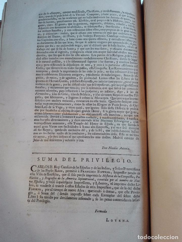 Libros antiguos: HISTORIA DE LA CONQUISTA DE MÉXICO - D. ANTONIO DE SOLIS - BRUSSELAS - FRANCISCO FOPPENS - 1704 - - Foto 19 - 100180207