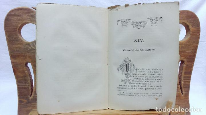 Libros antiguos: LO CASTELL DE SABASSONA. POR JOAQUIM SALARICH, CRONISTA DE VICH. 1879. CON FALTAS, VER. - Foto 4 - 100502679