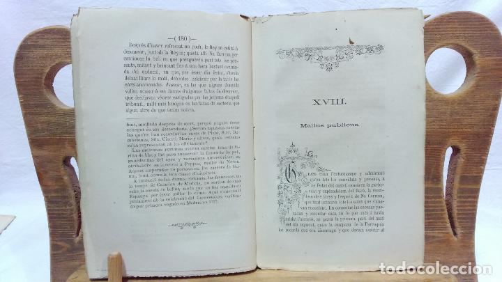 Libros antiguos: LO CASTELL DE SABASSONA. POR JOAQUIM SALARICH, CRONISTA DE VICH. 1879. CON FALTAS, VER. - Foto 6 - 100502679
