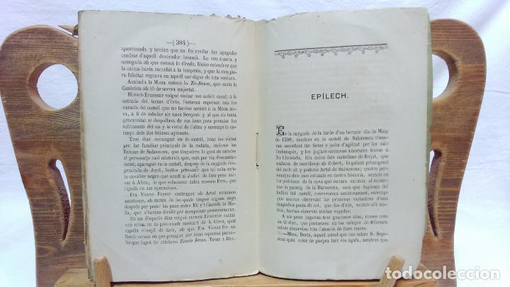 Libros antiguos: LO CASTELL DE SABASSONA. POR JOAQUIM SALARICH, CRONISTA DE VICH. 1879. CON FALTAS, VER. - Foto 7 - 100502679