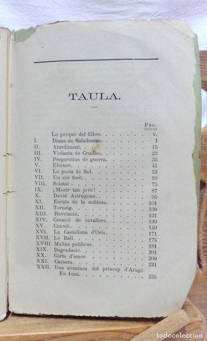 Libros antiguos: LO CASTELL DE SABASSONA. POR JOAQUIM SALARICH, CRONISTA DE VICH. 1879. CON FALTAS, VER. - Foto 8 - 100502679