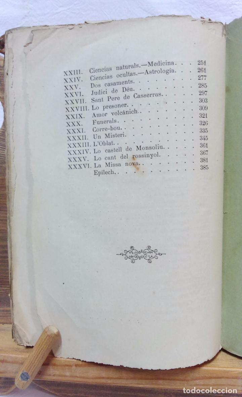 Libros antiguos: LO CASTELL DE SABASSONA. POR JOAQUIM SALARICH, CRONISTA DE VICH. 1879. CON FALTAS, VER. - Foto 9 - 100502679