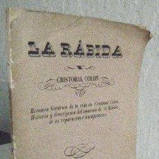 Libros antiguos: EVARISTO PALIZA.- LA RÁBIDA Y CRISTÓBAL COLÓN. Lote 94339262
