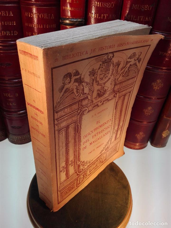 Libros antiguos: EL DESCUBRIMIENTO DEL ESTRECHO DE MAGALLANES - IV CENTENARIO - . P. PABLO PASTELLS - 2 TOMOS - 1920 - Foto 2 - 101469379