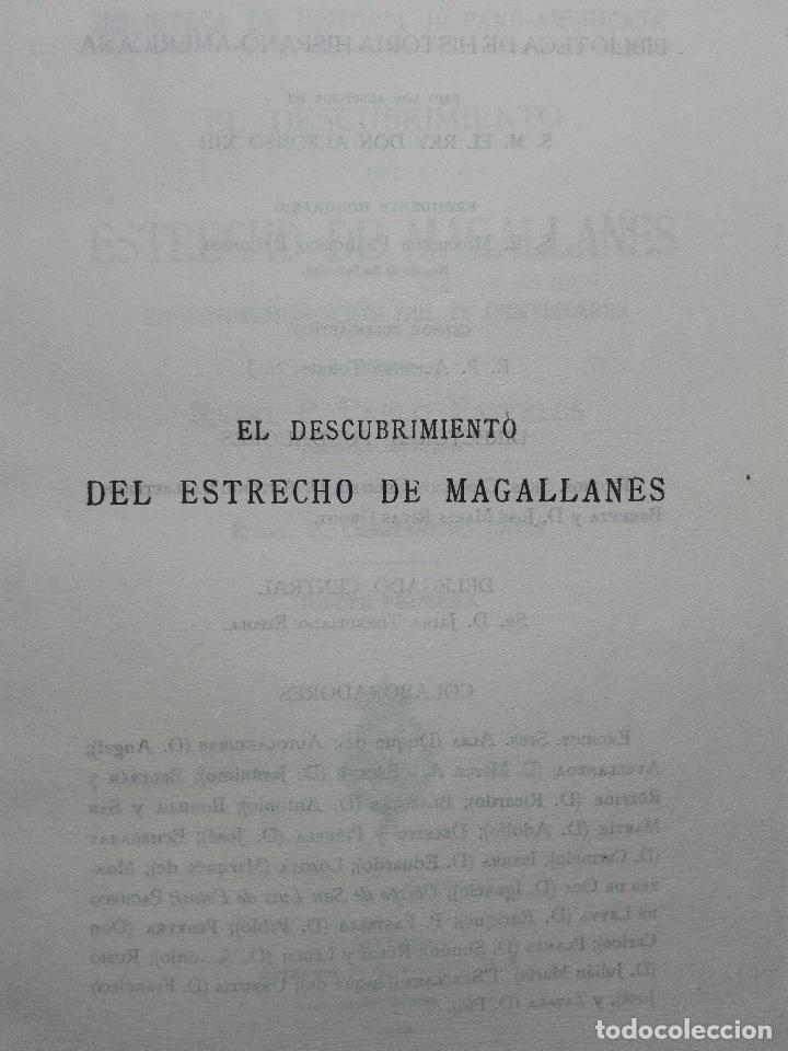 Libros antiguos: EL DESCUBRIMIENTO DEL ESTRECHO DE MAGALLANES - IV CENTENARIO - . P. PABLO PASTELLS - 2 TOMOS - 1920 - Foto 3 - 101469379