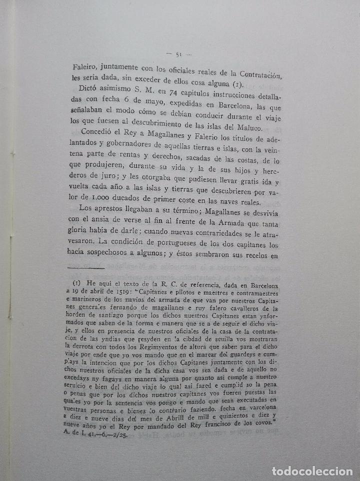 Libros antiguos: EL DESCUBRIMIENTO DEL ESTRECHO DE MAGALLANES - IV CENTENARIO - . P. PABLO PASTELLS - 2 TOMOS - 1920 - Foto 7 - 101469379