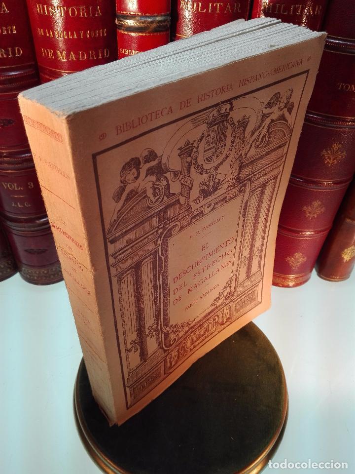 Libros antiguos: EL DESCUBRIMIENTO DEL ESTRECHO DE MAGALLANES - IV CENTENARIO - . P. PABLO PASTELLS - 2 TOMOS - 1920 - Foto 11 - 101469379
