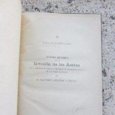 Libros antiguos: MEMORIA HISTÓRICA INVASIÓN DE LOS ÁRABES EN GERONA 1884. Lote 102796251