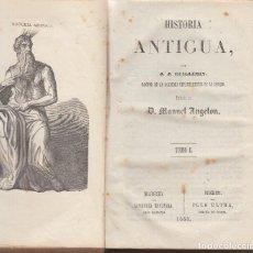 Libros antiguos: HISTORIA ANTIGUA JJ.GUILLEMIN TRADUCIDA MANUEL ANGELON GRABADOS 1858 MADRID LIBRERIA ESPAÑOLA. Lote 103563355