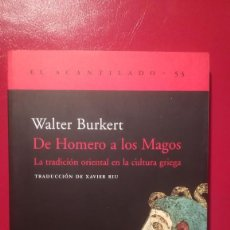 Libros antiguos: DE HOMERO A LOS MAGOS. . Lote 103872587