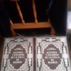 Libros antiguos: HISTORIA Y ESTAMPAS DE LA VILLA DE MADRID. Lote 103927528