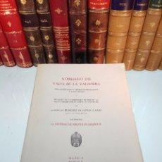 Libros antiguos: NOBILIARIO DEL VALLE DE LA VALDORBA - ESCUDOS DE ARMAS DE SUS PALACIOS Y CASAS NOBLES - MADRID -1958. Lote 105431255