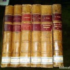 Libros antiguos: TRADICIONES PERUANAS. 6 TOMOS.REF-8594. Lote 105577619